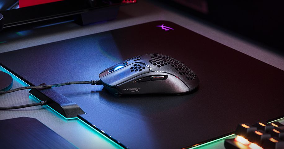 HyperX's Pulsefire Haste is a lightweight gaming mouse covered in holes