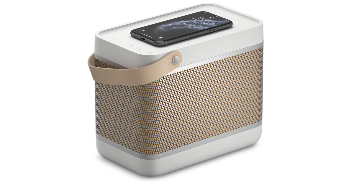 Bang & Olufsen's latest lunchbox-shaped speaker has a built-in Qi wireless charger