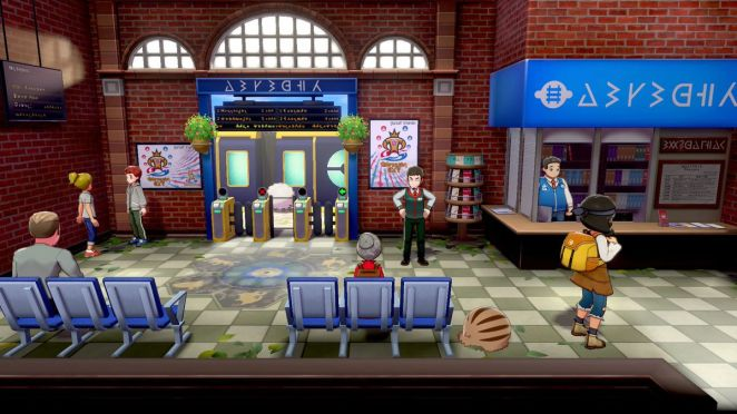 A character explores in Pokémon Sword and Shield