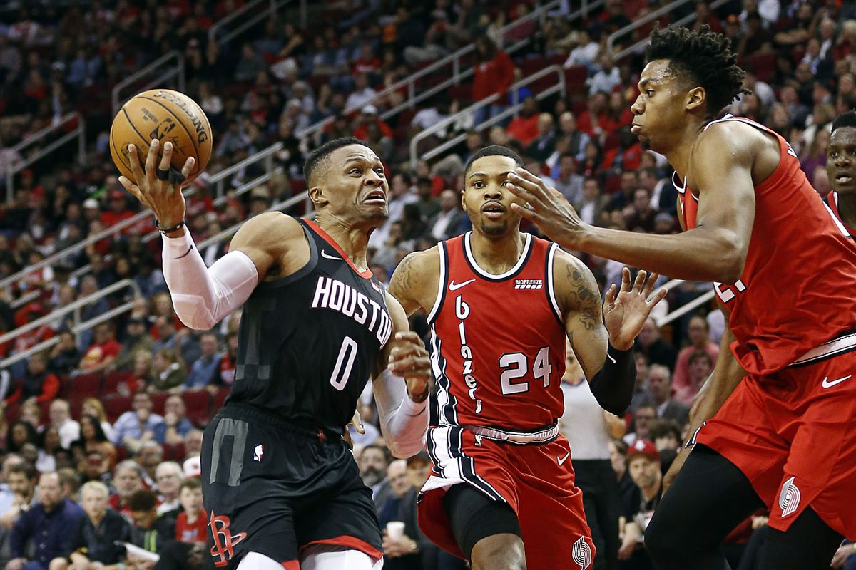 Image result for Houston Rockets vs Blazers""