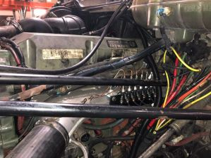 HyTech's internal combustion assistance (ICA) product, installed on a large diesel engine.