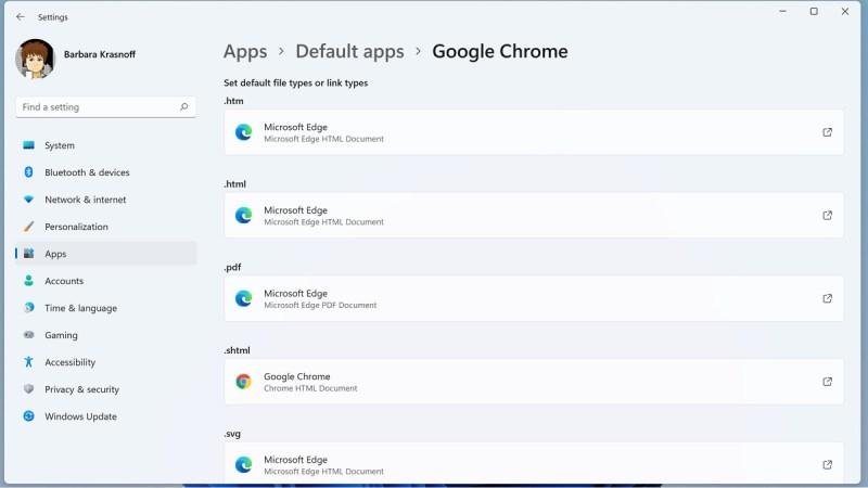 Cambiare browser significa associare ogni tipo di file al tuo nuovo browser.