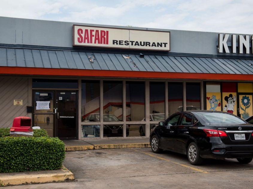 The sign outside Safari.