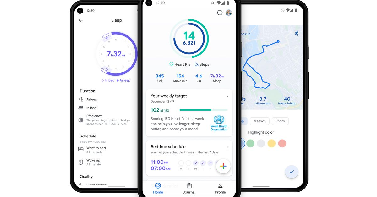 Google adds a new health hub and sleep tracking metrics to its Fit mobile apps