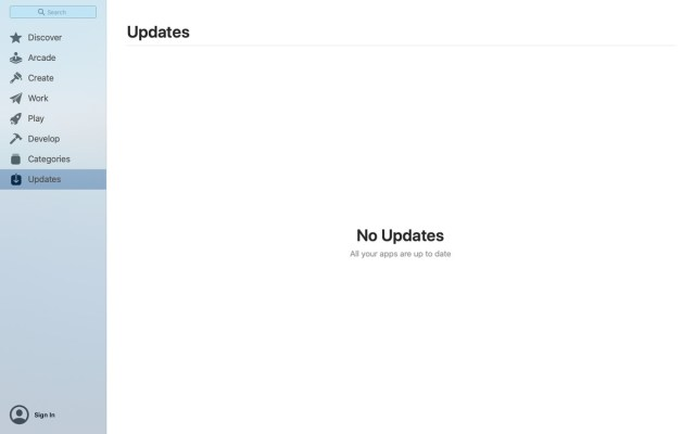 "Seite ""App Store-Updates"""