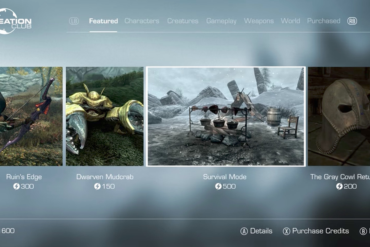 Bethesdas New DLC Marketplace Wont Sell Existing Skyrim