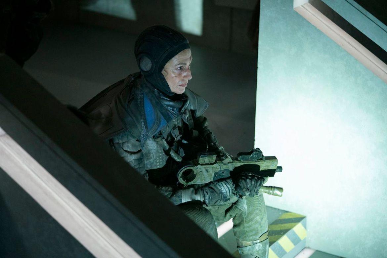 "Claudia Black as ""Stripe"" aka Zephyr Alexis Navine in The Nevers"