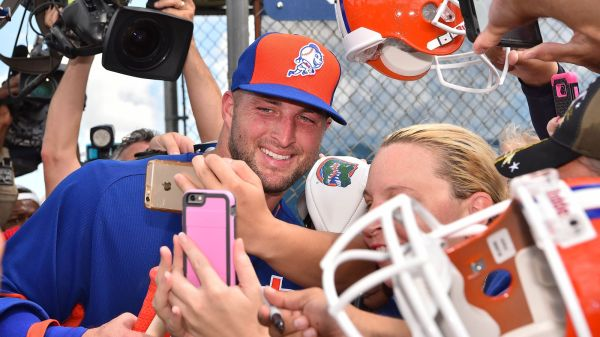 Tim Tebow arrives at Mets instructional league - Amazin ...