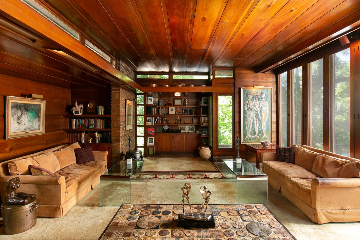 Well Preserved Frank Lloyd Wright Usonian Heads To Auction