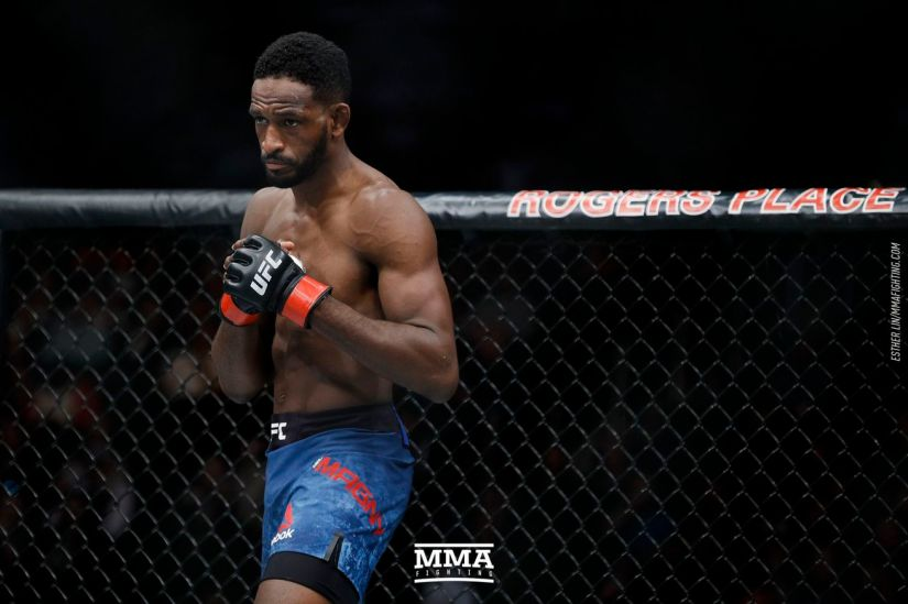 Neil Magny (pictured) has been forced to withdraw from his UFC Rochester bout against Vicente Luque this Saturday