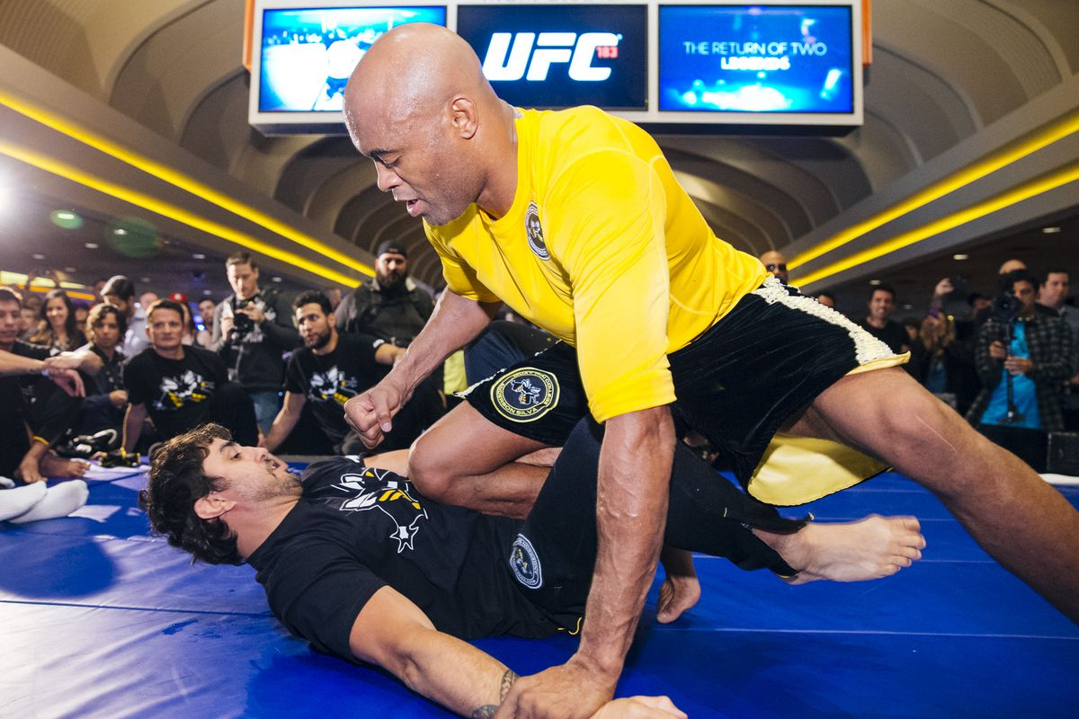 UFC 183 Anderson Silva Workout