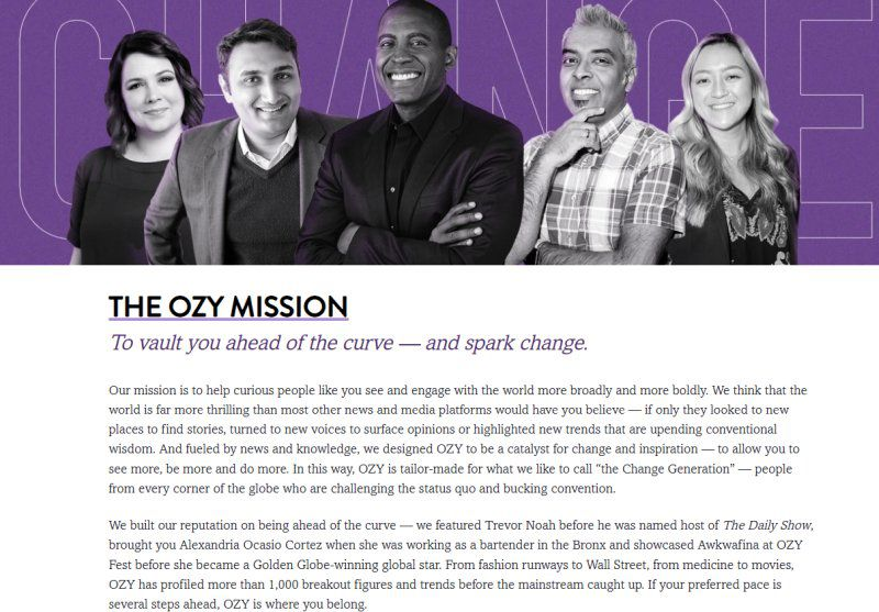 The Ozy Mission -