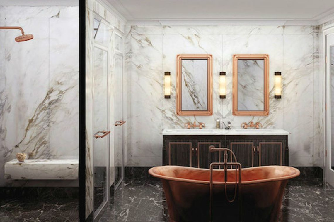 Rendering Of A Bathroom In The Fitzroy A New Condo Building Under Development In Nyc
