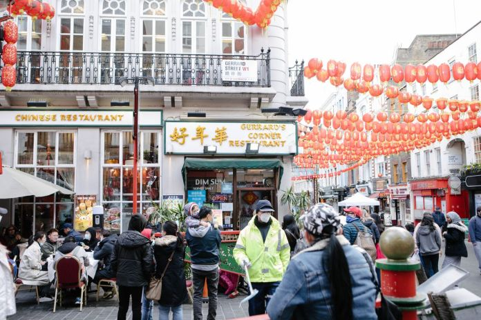 Gerrard Street cafes and restaurants in Chinatown are open for outdoor dining