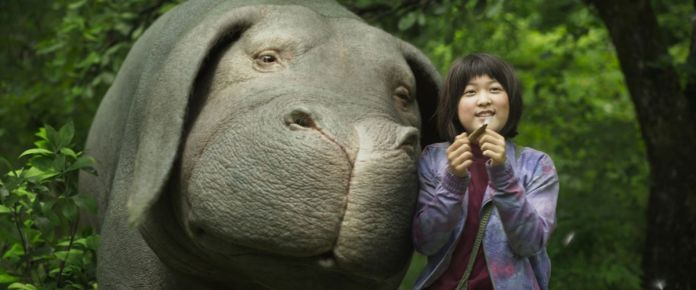 Mija (Ahn Seo-hyun) and Okja, her giant super-pig.