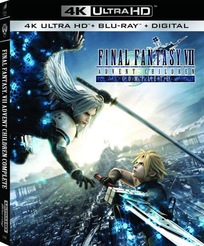 The cover art for Final Fantasy 7: Advent Children's 4K Blu-ray rerelease