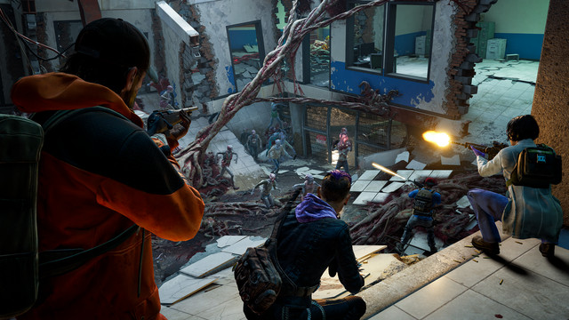 A group of Cleaners destroy a zombie nest