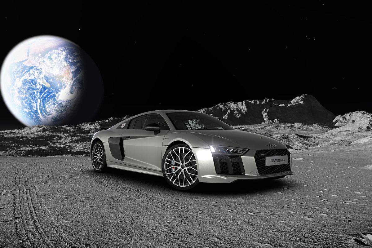 I Just Built An Audi R8 On The Moon The Verge