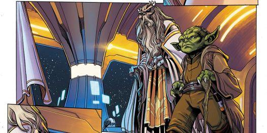 Jedi Grandmasters Veter and Yoda on the Starlight Beacon, in Star Wars: The High Republic #1, Marvel Comics (2021).