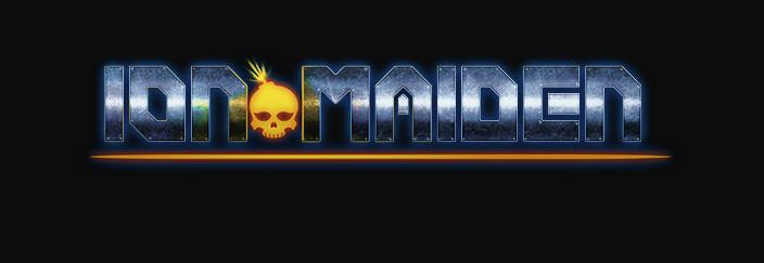 ion maiden logo bearing striking resemblance to iron maiden logo
