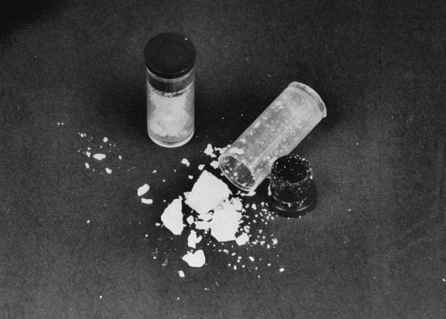 Vials of crack cocaine.