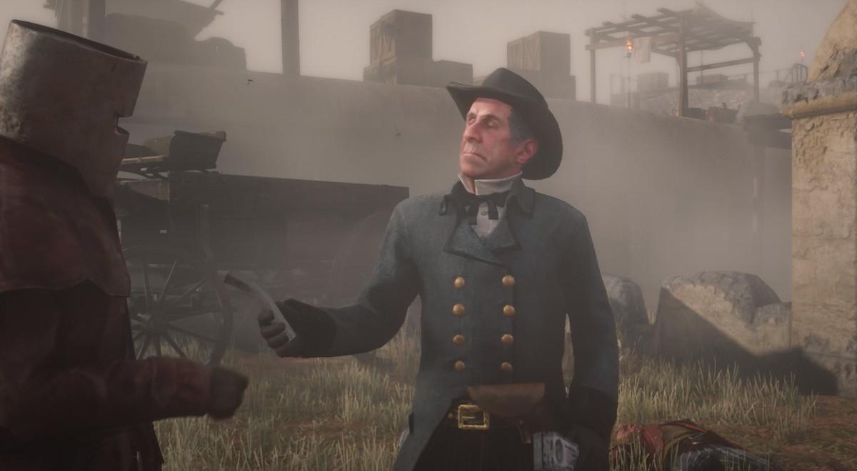 Red Dead Online - Horley entregando dinero al jugador