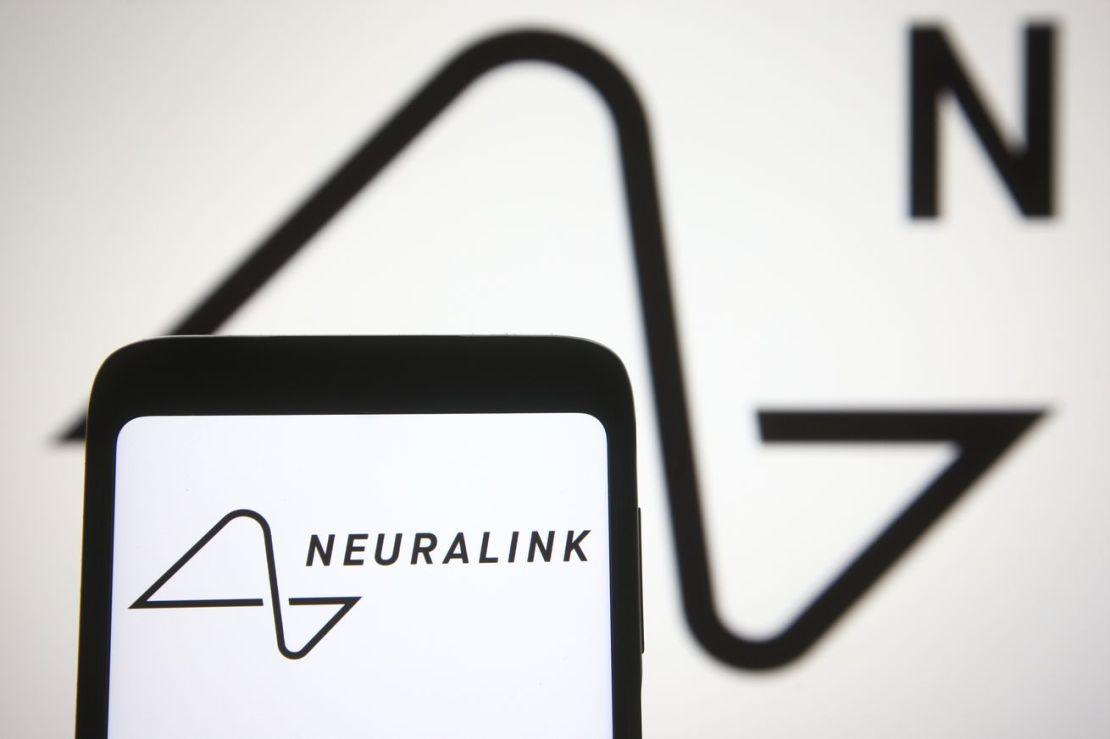 Photo illustration of the Neuralink logo