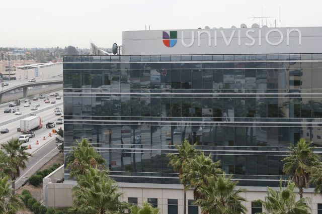 View of the Univision Building in Los An