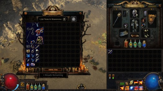 Path of Exile: Echoes of the Atlas Ritual Tribute shop