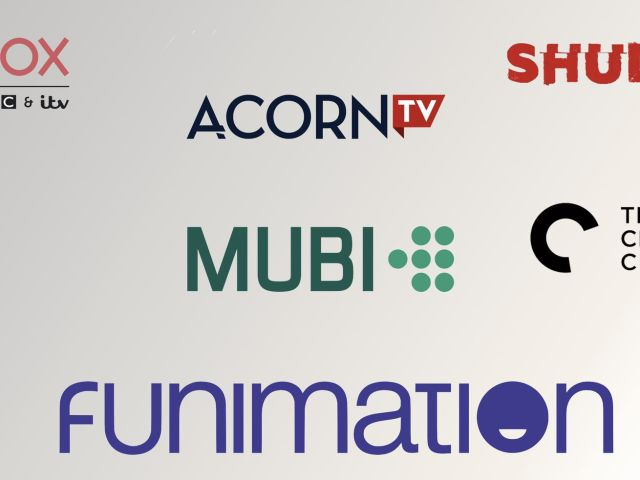 A collection of niche streaming platform logos