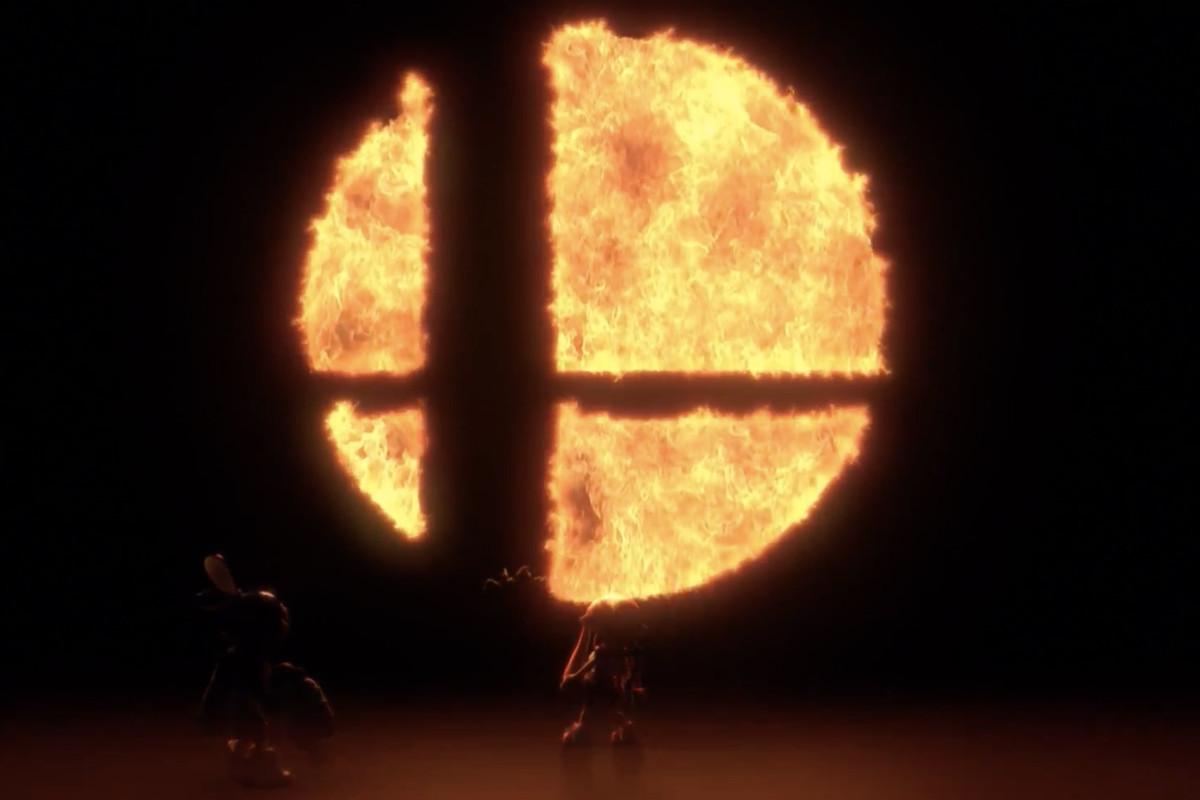 Super Smash Brothers Flame Logo