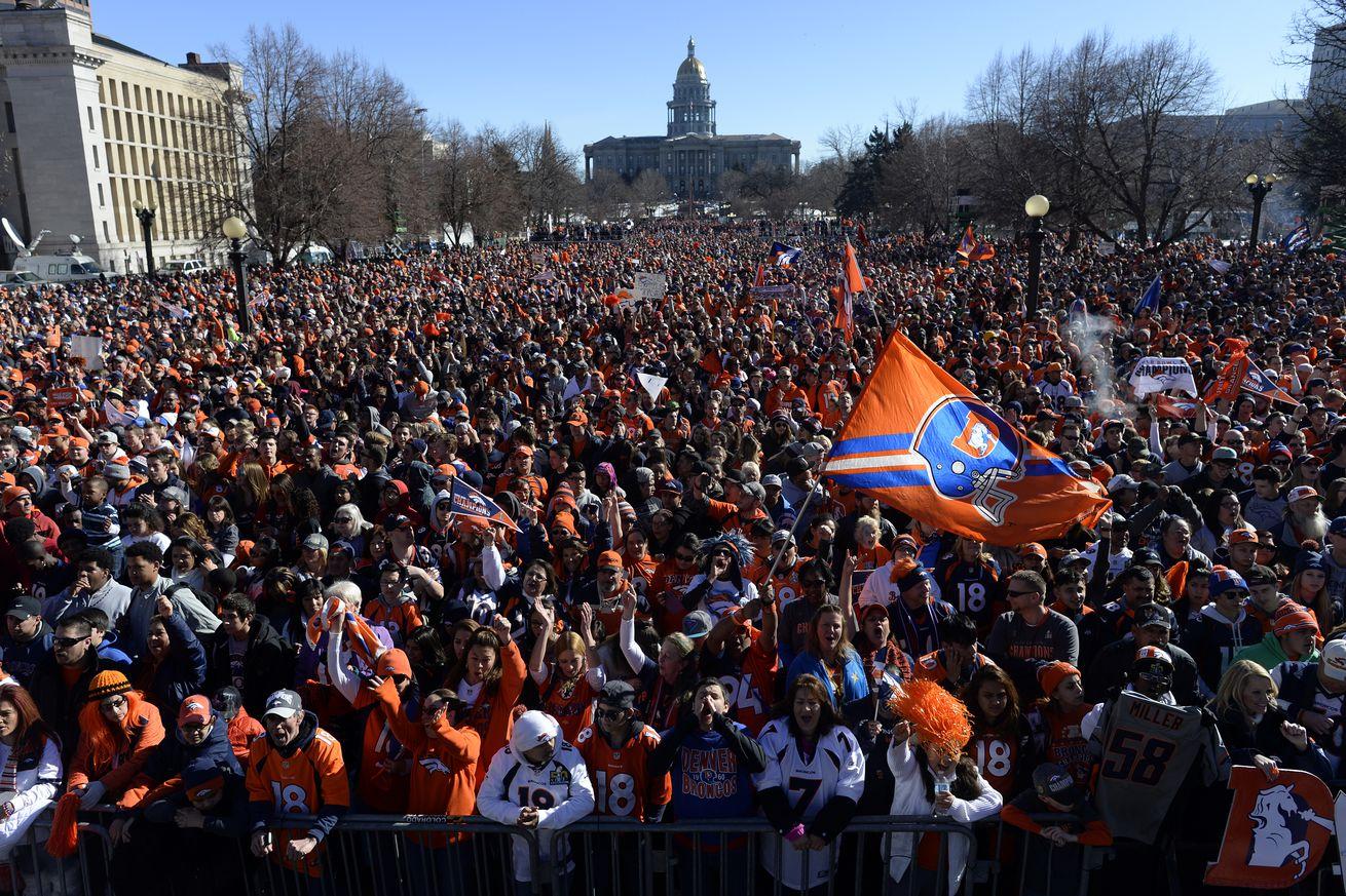 Denver Broncos Super Bowl Rally