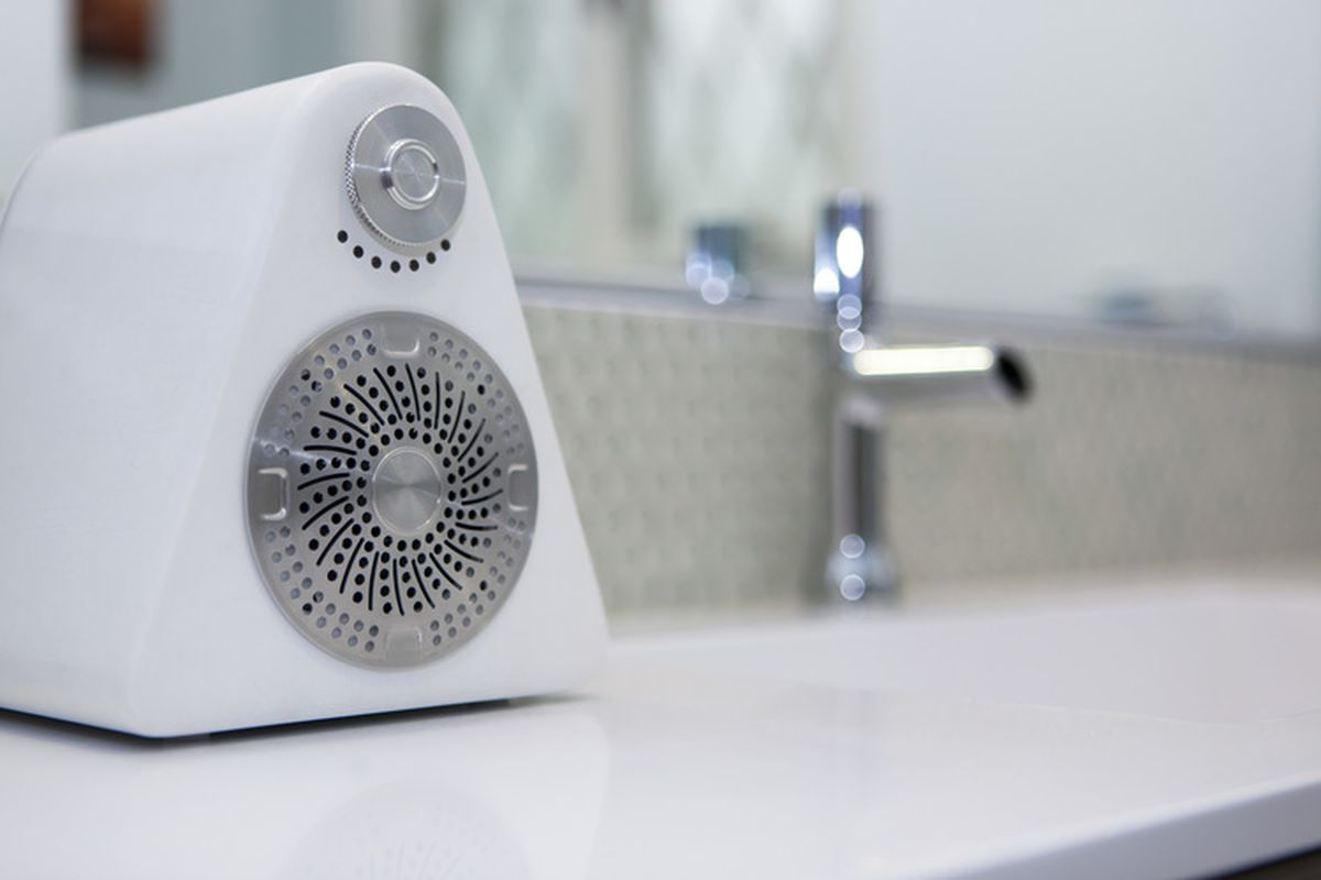 The Front Of This Speaker Looks Like A Shower Drain The