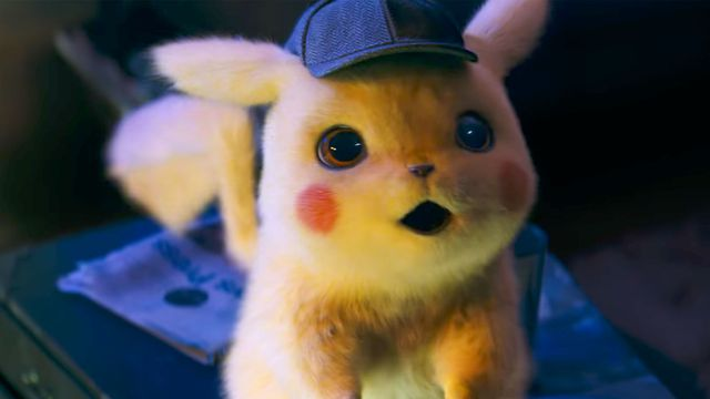 Pikachu at his fuzziest in <em>Detective Pikachu</em>, which hits theaters Friday, May 10.