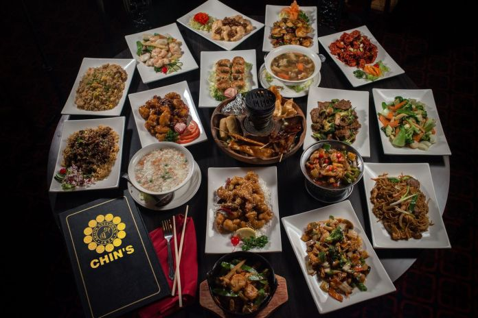 Assortment of dishes from Chin's Szechwan