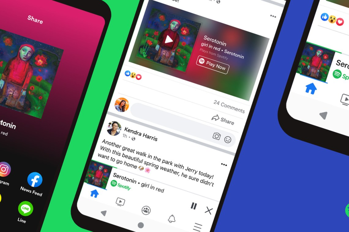Spotify's miniplayer for Facebook launches today
