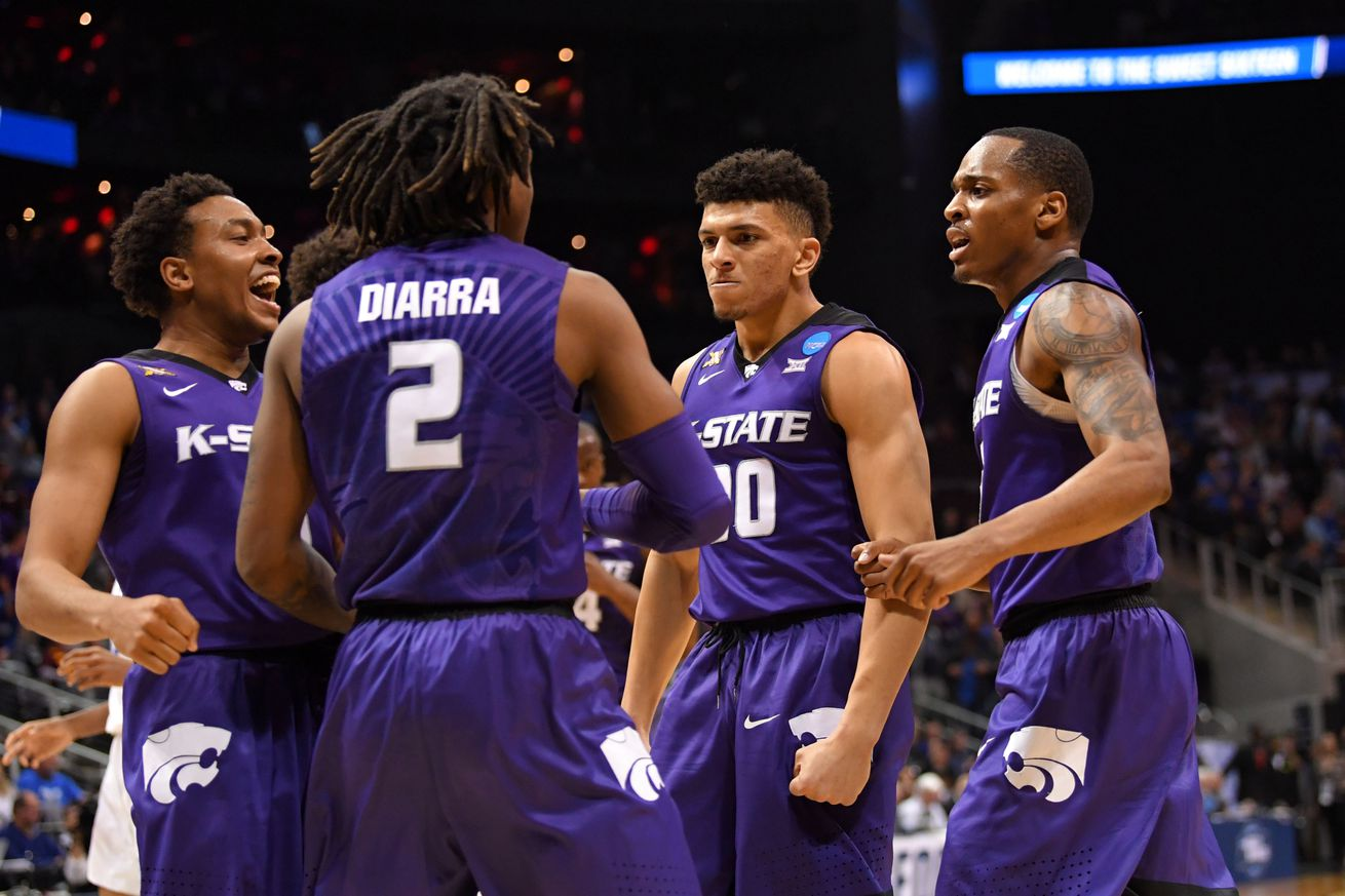 This lineup of 6'4 and unders finished the game in thrilling fashion. Party in Aggieville!