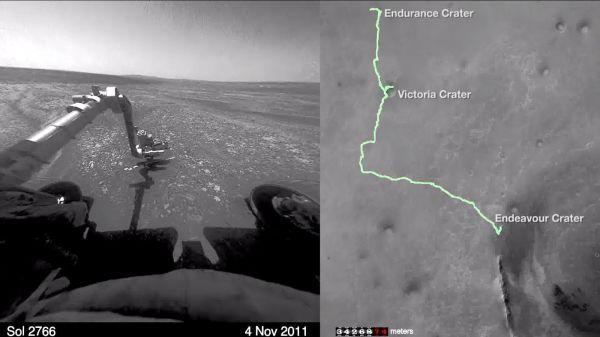 Watch the Mars Opportunity rover run an 11-year marathon ...