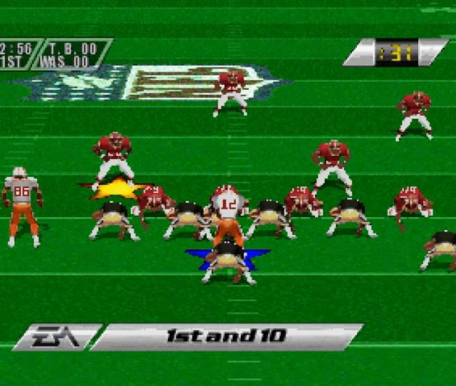 Madden Nfl 96 On Playstation Leaked Build Tampa Bay Versus Washington At The Line