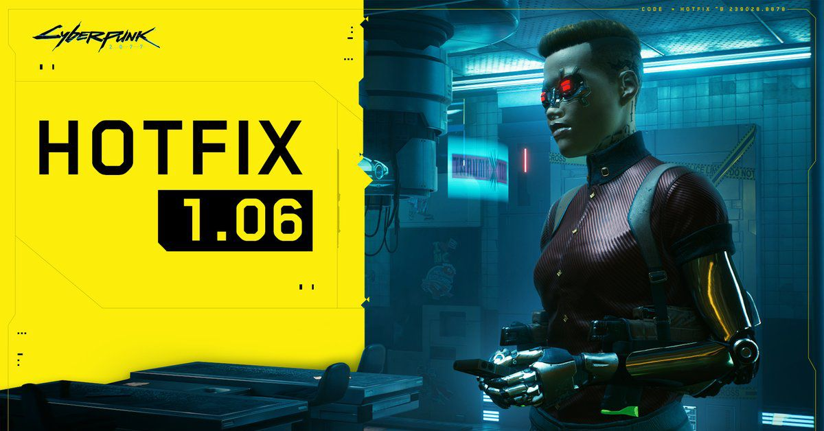 Cyberpunk 2077's 1.06 update is here to reduce your fear of corrupted savegames
