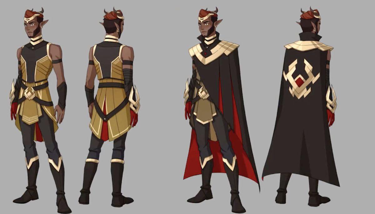 Karim from The Dragon Prince season 4 design