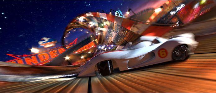 speed racer racing scene