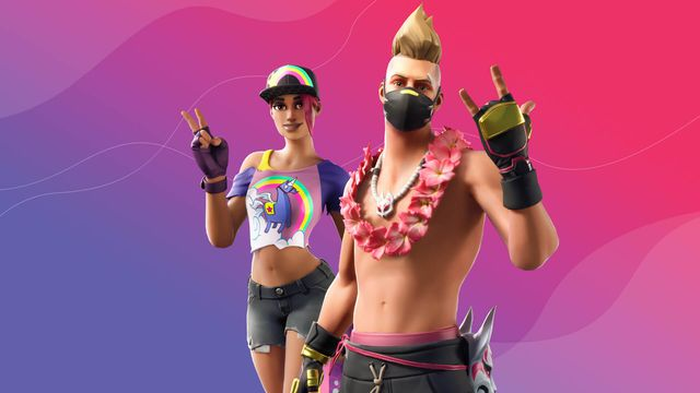 Two of Fortnite's summer skins posing