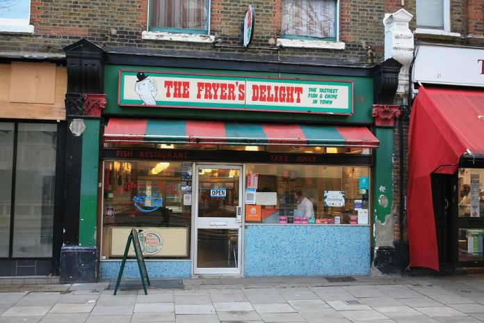 The Fryerer's Delight in Holborn, one of London's best fish and chips, opened during the coronavirus lockdown in London