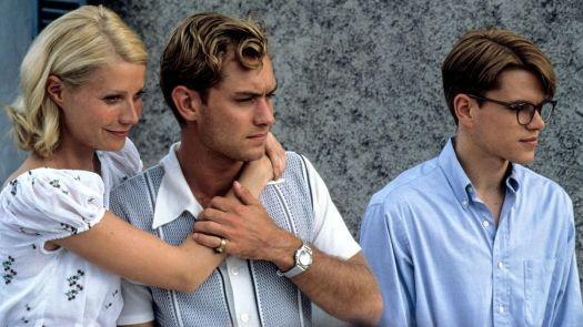 Gwyneth Paltrow, Jude Law, and Matt Damon in The Talented Mr. Ripley.