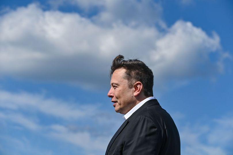 Elon Musk visits construction site of the Tesla Giga Factory