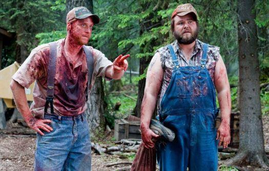 Tyler Labine and Alan Tudyk as Tucker and Dale in Tucker & Dale vs Evil