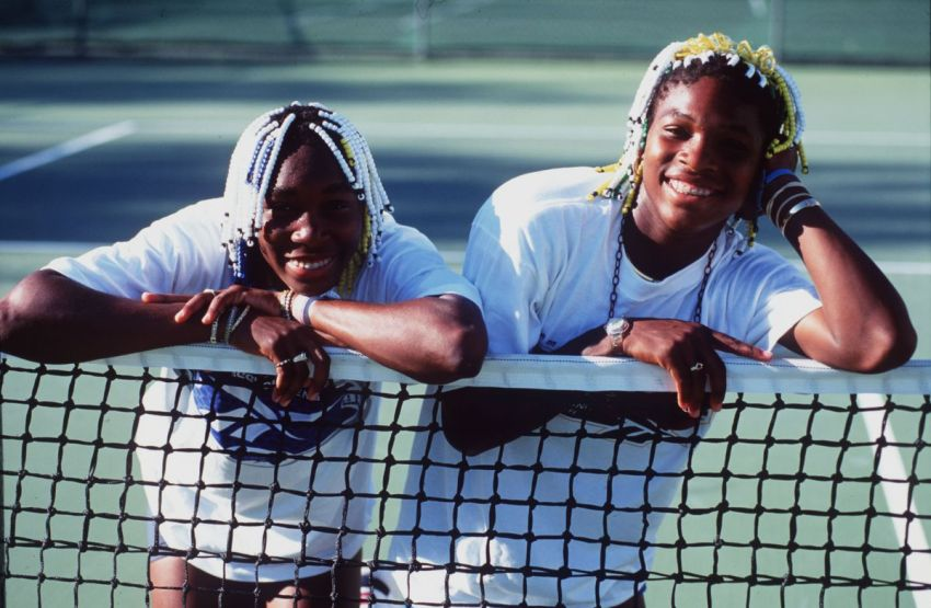 The Williams sisters as teens.