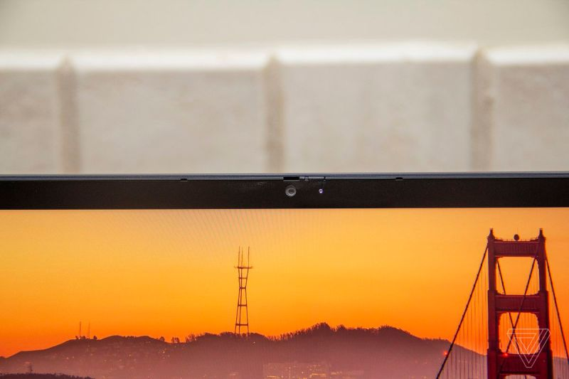 La webcam del Chromebook Lenovo ThinkPad C13 Yoga.
