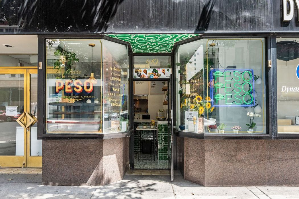 The exterior of Petite Peso, the small Downtown LA restaurant.